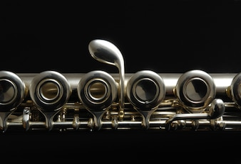 Close up details of clarinet