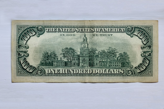 Primo piano di una banconota del dollaro