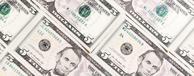 Close up of dollar bills as a background