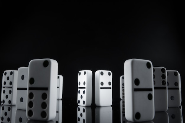 Close up of domino pieces