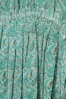 Close-up dress with paisley pattern