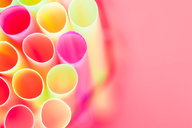 Close up drinking straw texture