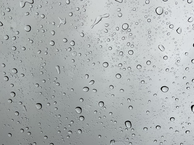 Close up on droplet of water on window