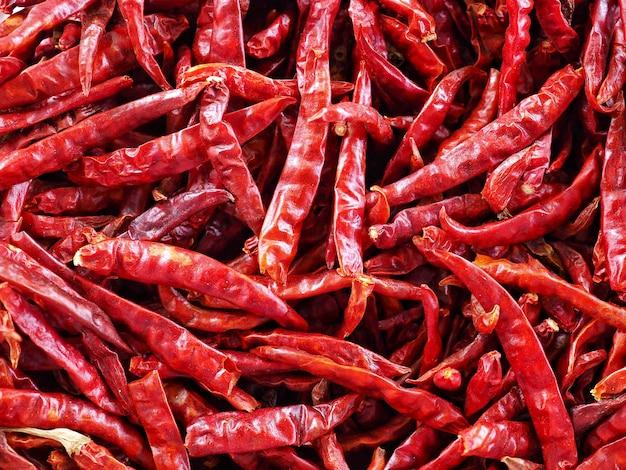 Close up dry red chili.