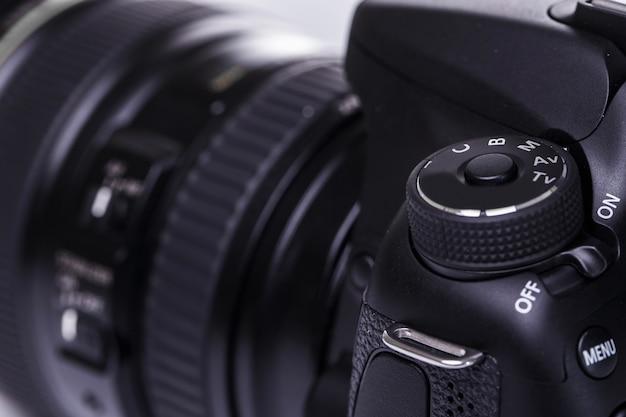 Close up of dslr camera