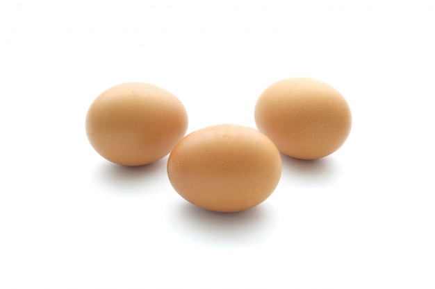 Close up egg isolated