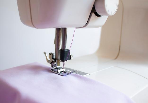 Close up electric sewing machine