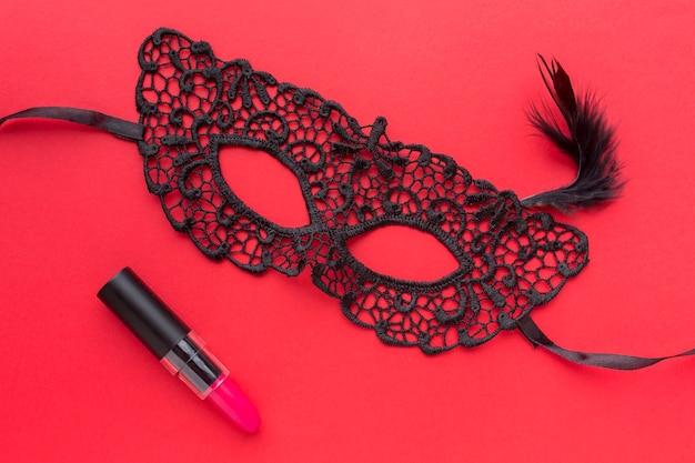 Close-up elegant carnival mask