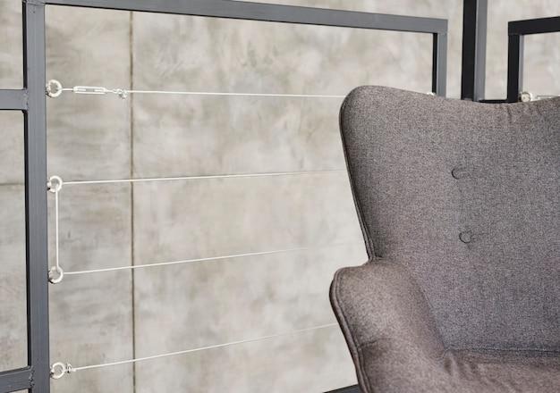 Close-up elegant modern armchair