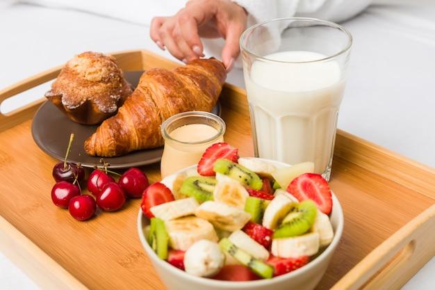 Close up of a european classic breakfast