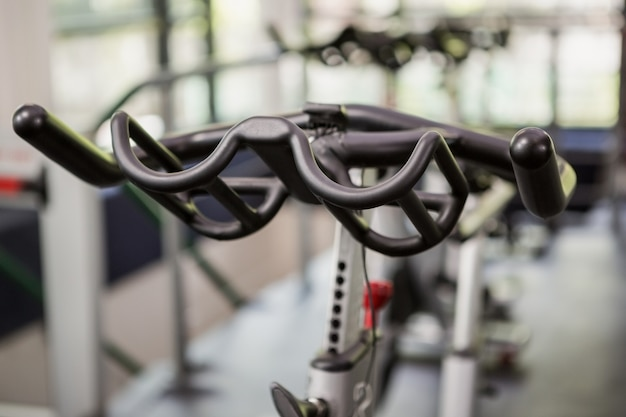 Close-up of exercise bike