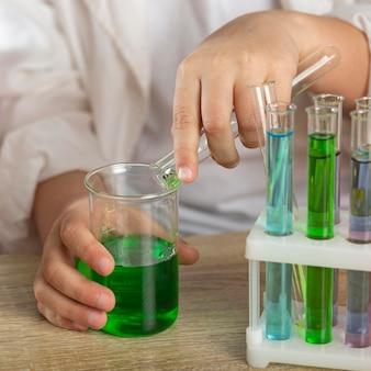 실험 튜브 테스트 닫기
