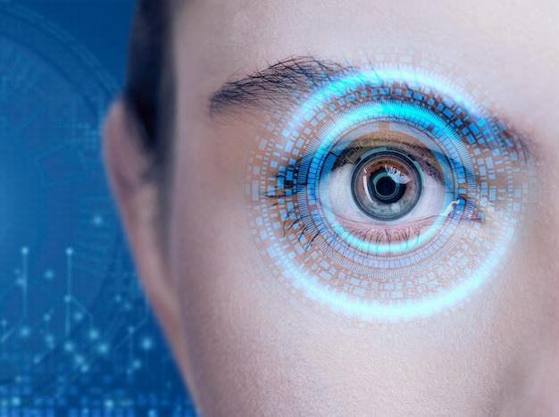 Сканирование глаз крупным планом