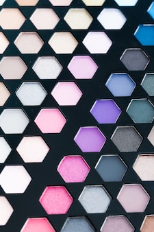 Close up eye shadow cosmetic