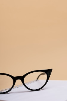 Close-up eyeglasses with plastic frame