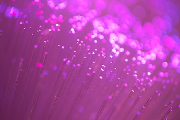 Close up on fiber optics - shallow depth of field