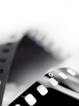 Close-up film of a roll 35 mm photographic film