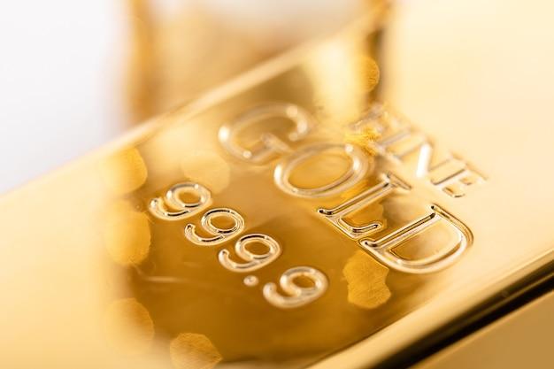 Close up of fine gold bullion