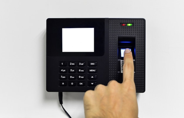 Close-up of fingerprint reader