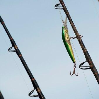 Close-up of fishing rods, sayulita, nayarit, mexico