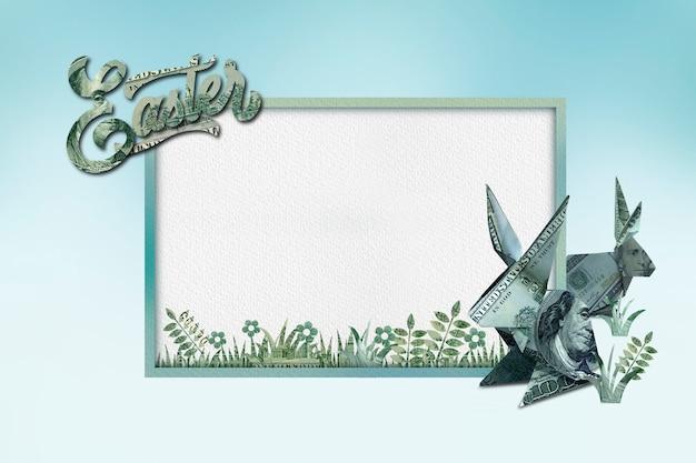 Close up on frame design for easter