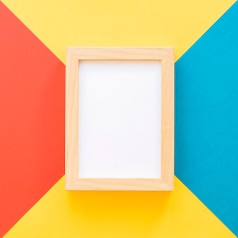 Close up of frame on geometric background
