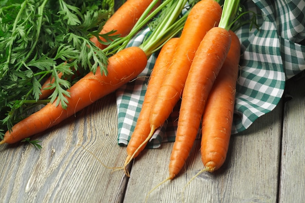 Close up of fresh carrot