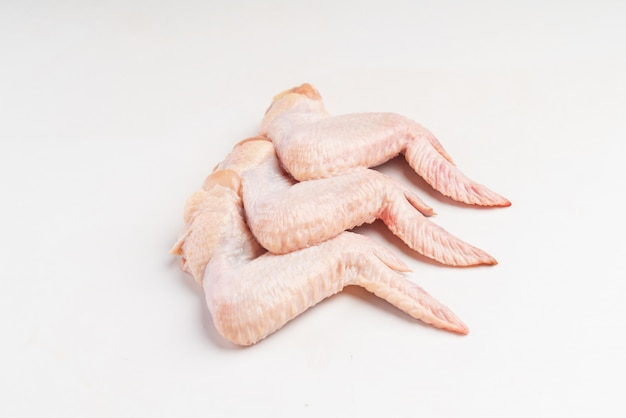 Close up of fresh chicken wings