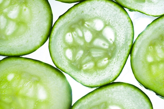 Close-up fresh cucumbers background