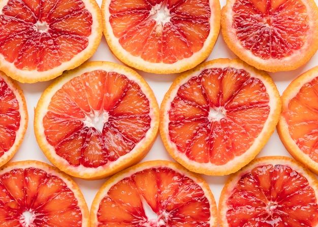 Close-up fresh grapefruit slices