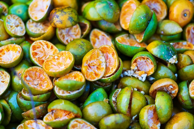 Close up of fresh orange peel natural background