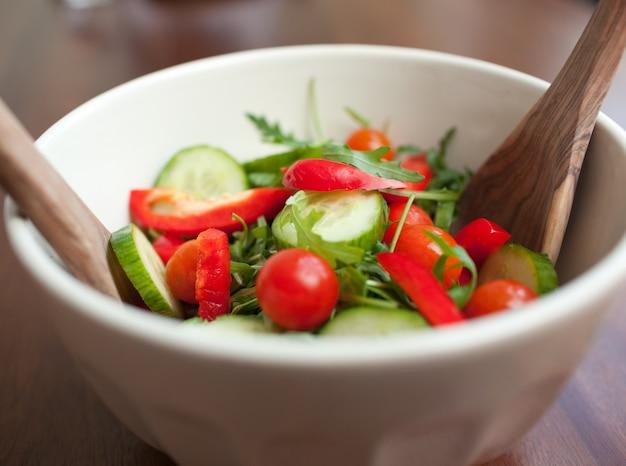 Close-up of a garden salad