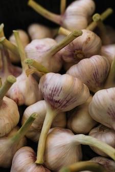 Close-up of garlic bulbs