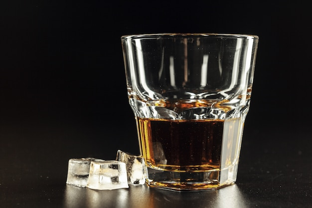 Close-up of glass with whiskey