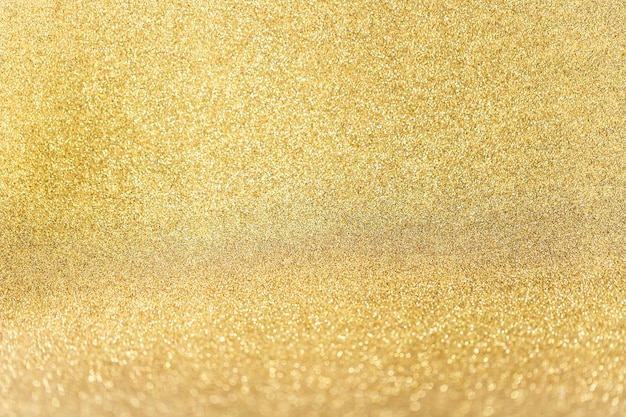 Close up of golden glitter background