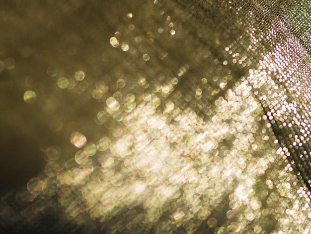 Close-up golden sequin texture