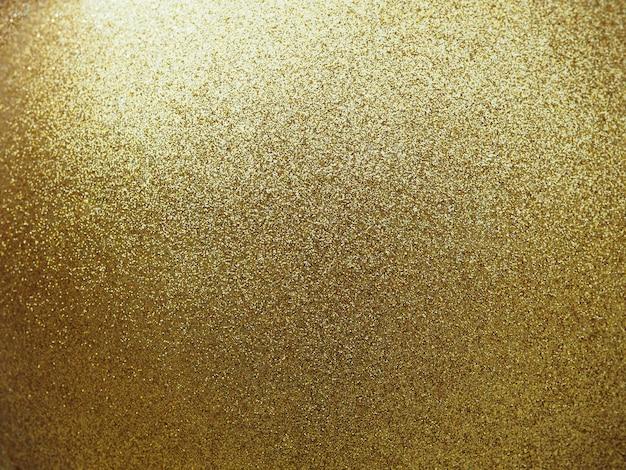 Close up of golden textured glitter