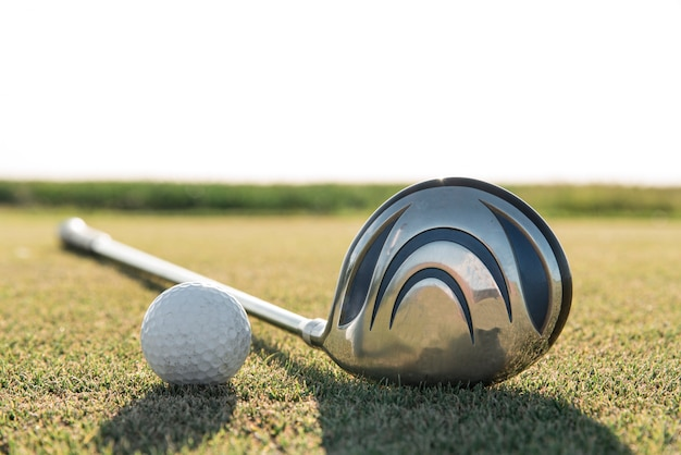 Close-up golf equipment