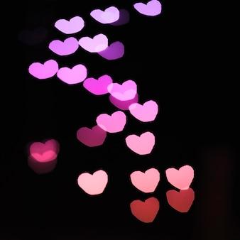 Close-up gradient hearts