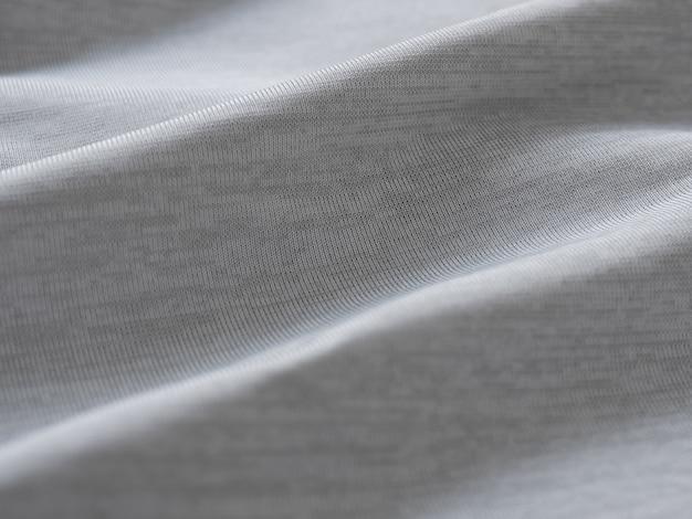 灰色の生地のテクスチャの背景を閉じる