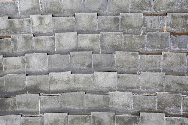Close-up gray tile wall background