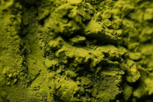 Close-up green asian matcha tea