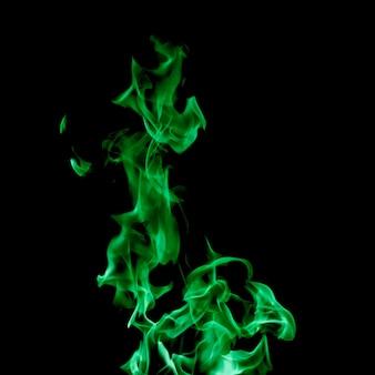 クローズアップ緑の炎