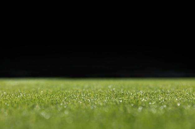 Close-up green football pitch