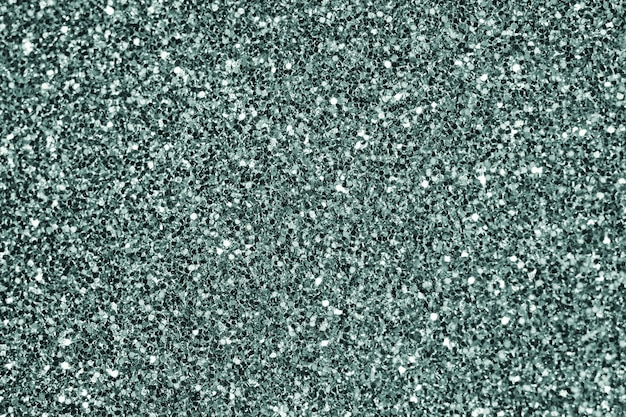 Close up of green glitter textured background