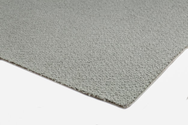 Close up on grey carpet texture isolated