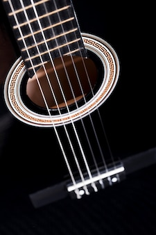 Close up of a guitar
