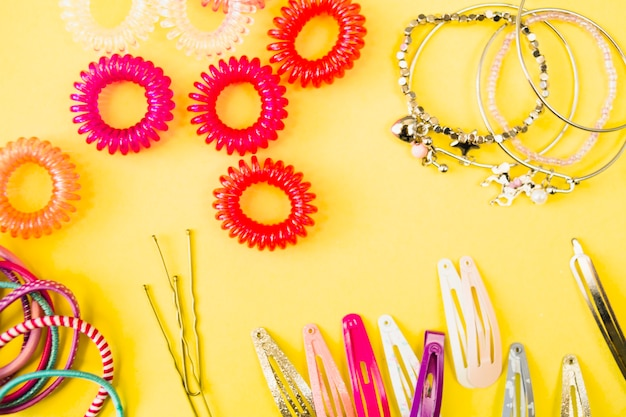 Close-up hair accessories