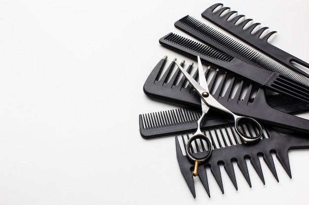 Close up of hair comb set
