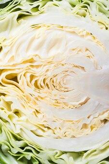 Close-up half of cabbage